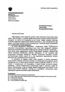 Odpowiedź Ministerstwa na list w sprawie polskich kierowców w Calais