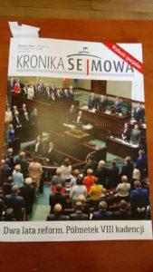 Kronika Sejmowa podsumowała półmetek kadencji